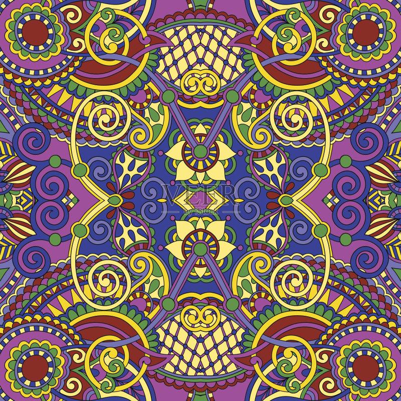 无缝的样式 美术工艺 装饰物 刺绣 纺织品 东 无人 2015年 几何形状