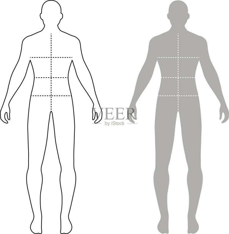 人的头部 男性形象 式样 四肢 比例 臀 中间部分 测量工具 手臂 腰部
