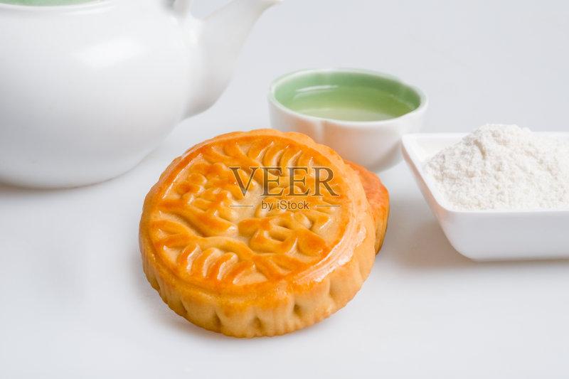食品 小吃 月饼 传统 影棚拍摄 杯 海关 茶