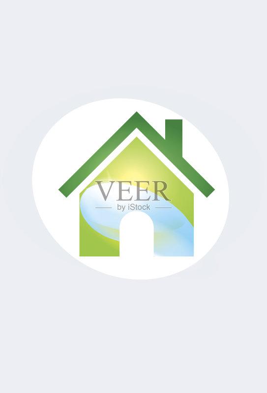logo-图 房屋建设 符号 蓝色 自然 公寓 无人 环境保护 2015年 水面 保护 计