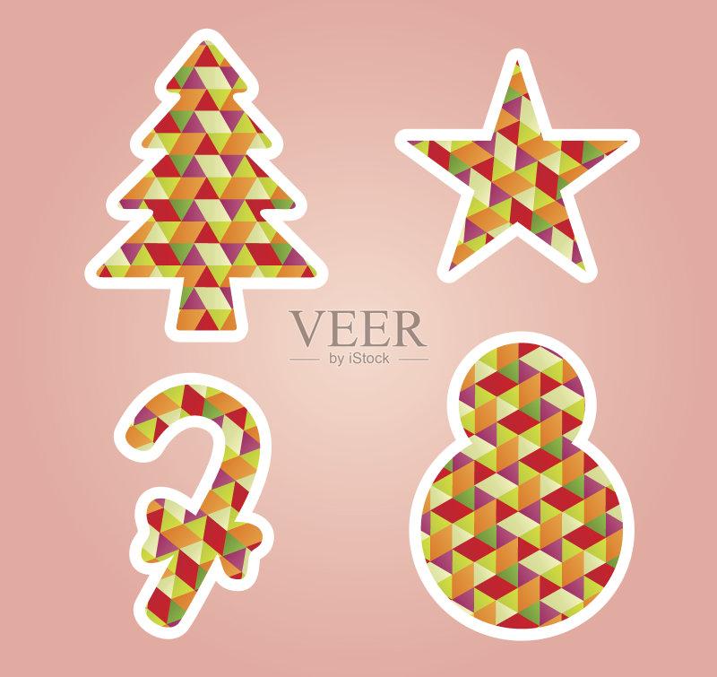 祝福-节日 星形 高雅 符号 从容态度 领结 圣诞老人 礼物 装饰 部分 个性 图片