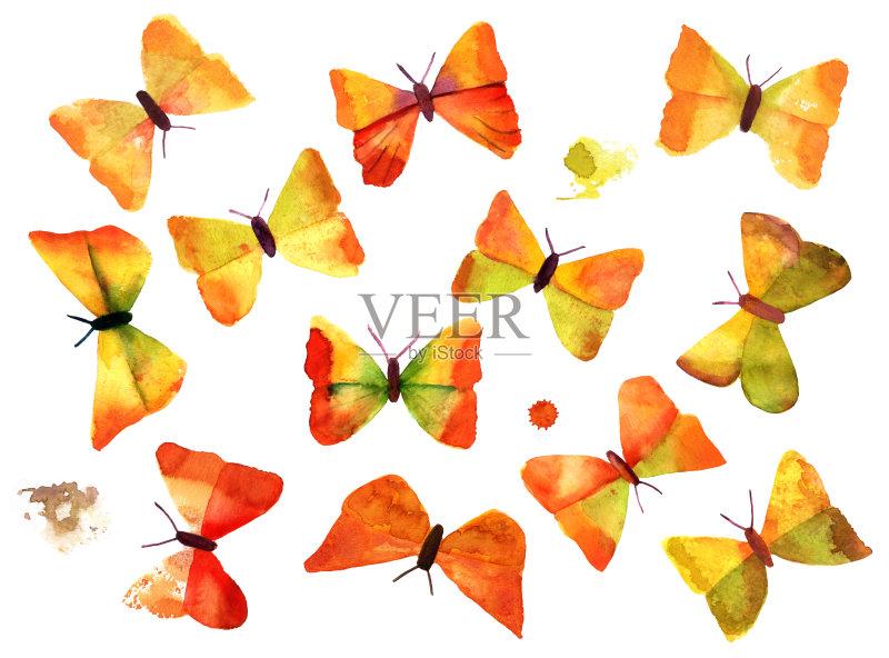 成部分 翅膀 手工着色 复古风格 绘画作品 飞 新的图片