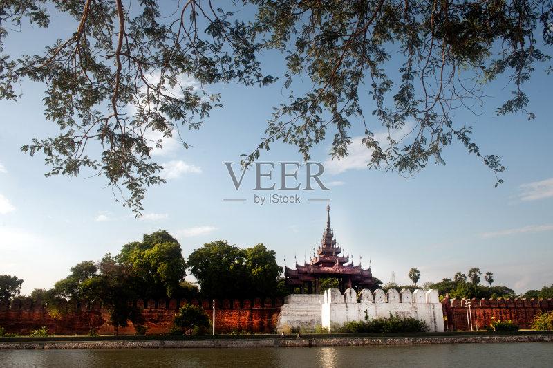 著名景点 木制 文化 美 看风景 符号 墙 城市 历史 2015年 都市风景 缅甸 图片