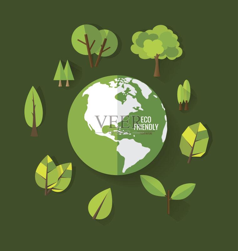 环保-会问题 无人 环境保护 2015年 树 矢量 创造力