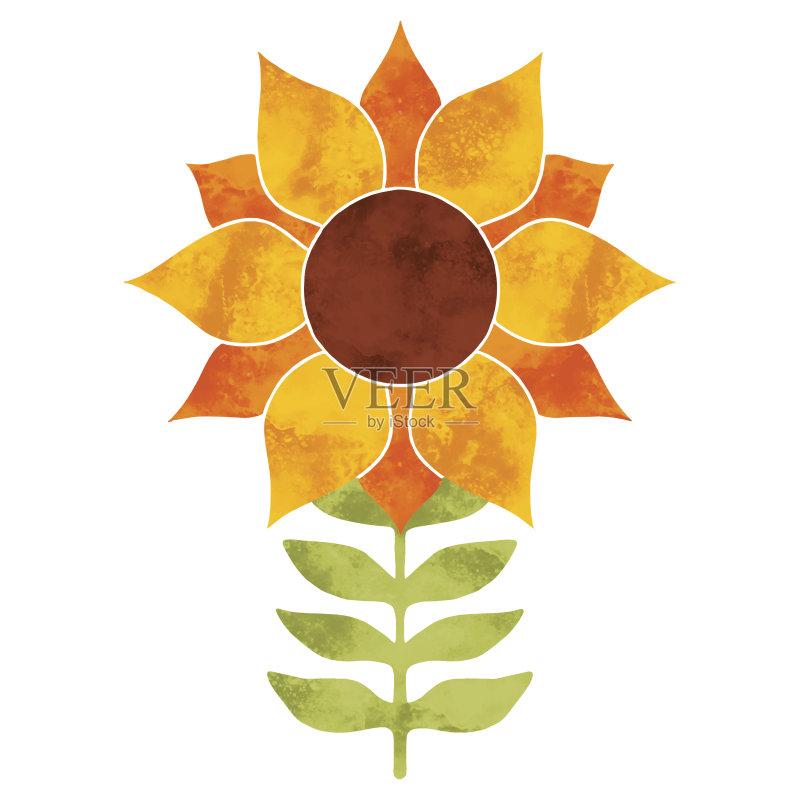 品 日光 花 手工着色 绘画作品 纹理效果 园艺 矢量图片