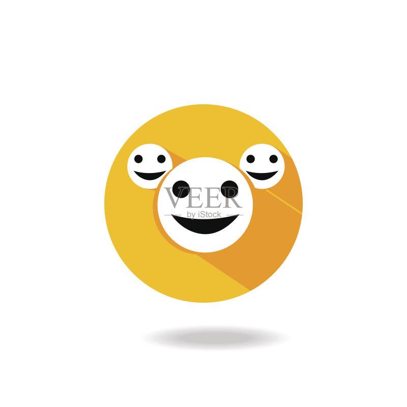 标志 乐趣 表情符号 快乐 2015年 笑 人体 黑色 矢量