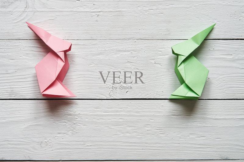 手工-日本 节日 白色 想法 概念和主题 动物耳朵 形状 野兔 折叠的 装饰 图片