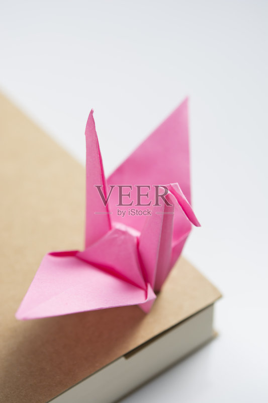 手工纸 材料 居家装饰 白色背景 动物 无人 2015年 粉色 室内 书 折叠 折图片