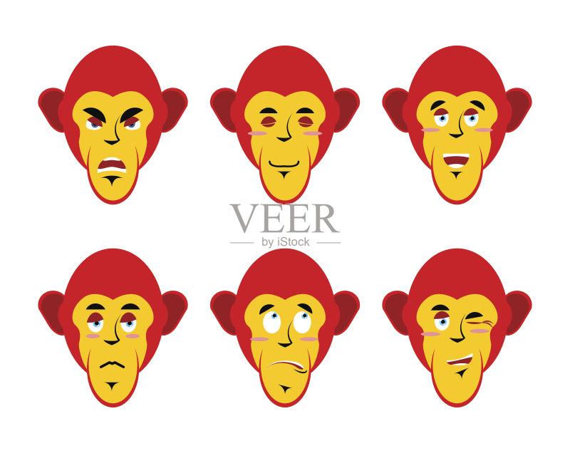 情绪-收集 符号 悲哀 吉祥物 情感 野生动物 标签 幽默 讽刺漫画 可爱的