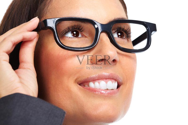 业金融和工业 近视 眼镜 商务 2015年 视力 验光师 人体 人的脸部 成年