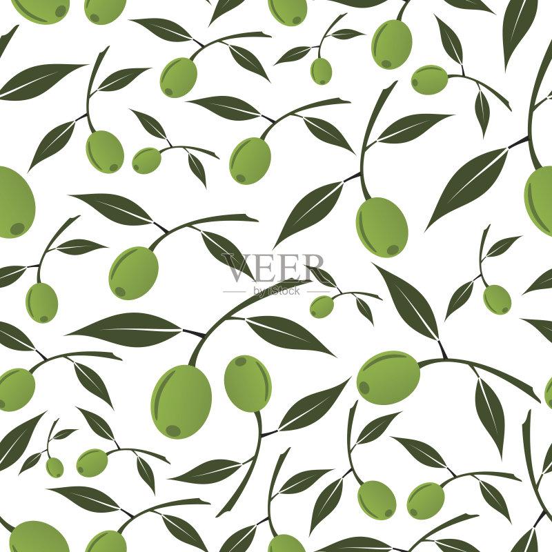 图案-白色 叶子 植物 符号 式样 食用油 希腊 自然 纹理 食品 欧洲 绿橄榄
