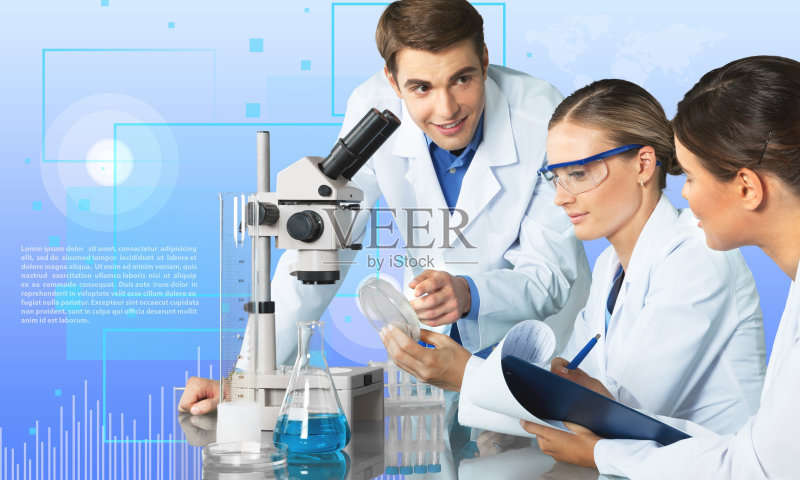 医疗-人 工厂 女人 实验室 忠告 皮氏培养皿 科学家 科学 技术 技术员 工图片