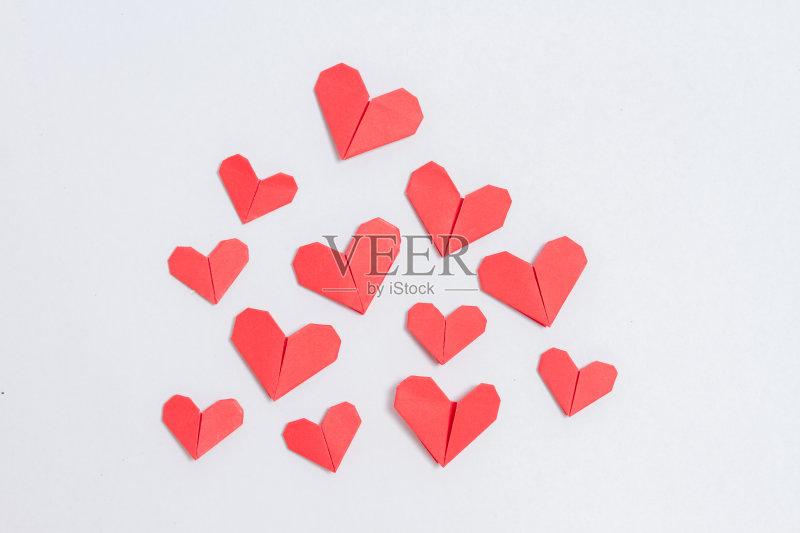 手工-节日 设计 白色 一个物体 心型 红色 符号 式样 问候 自己动手 白昼 图片