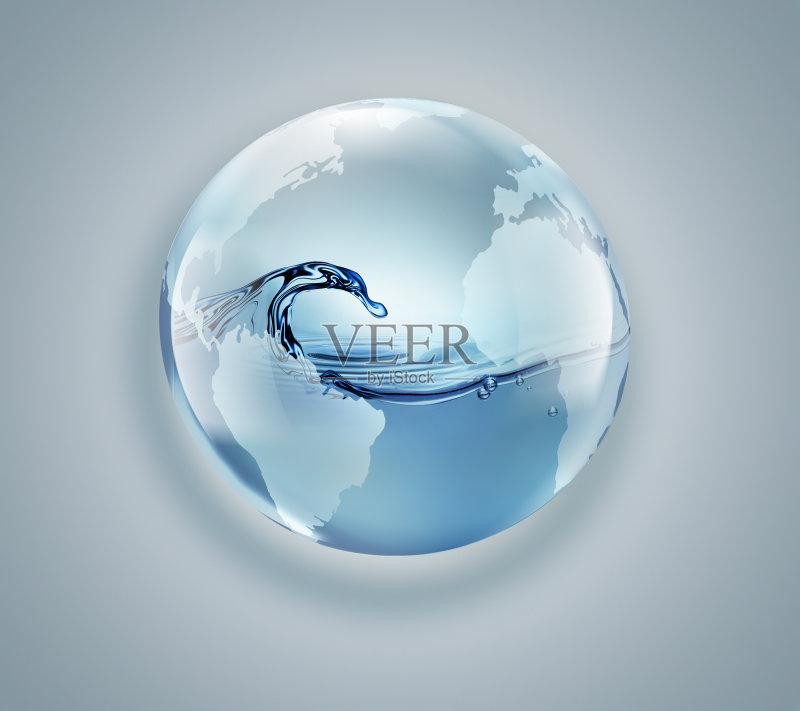 地球-环境 绘画插图 符号 液体 形状 蓝色 自然 无人 湿 行星 纯净 海洋