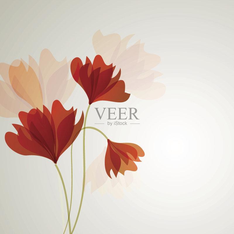 礼物 装饰 蜡笔画 色彩鲜艳 花瓣 美 色彩柔和 橙色 请柬 美术工艺 春