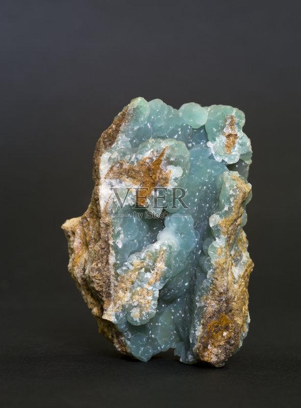 融和工业 金属矿石 蓝色 自然 Smithsonite 无人 博物馆 科学 黑色 岩石