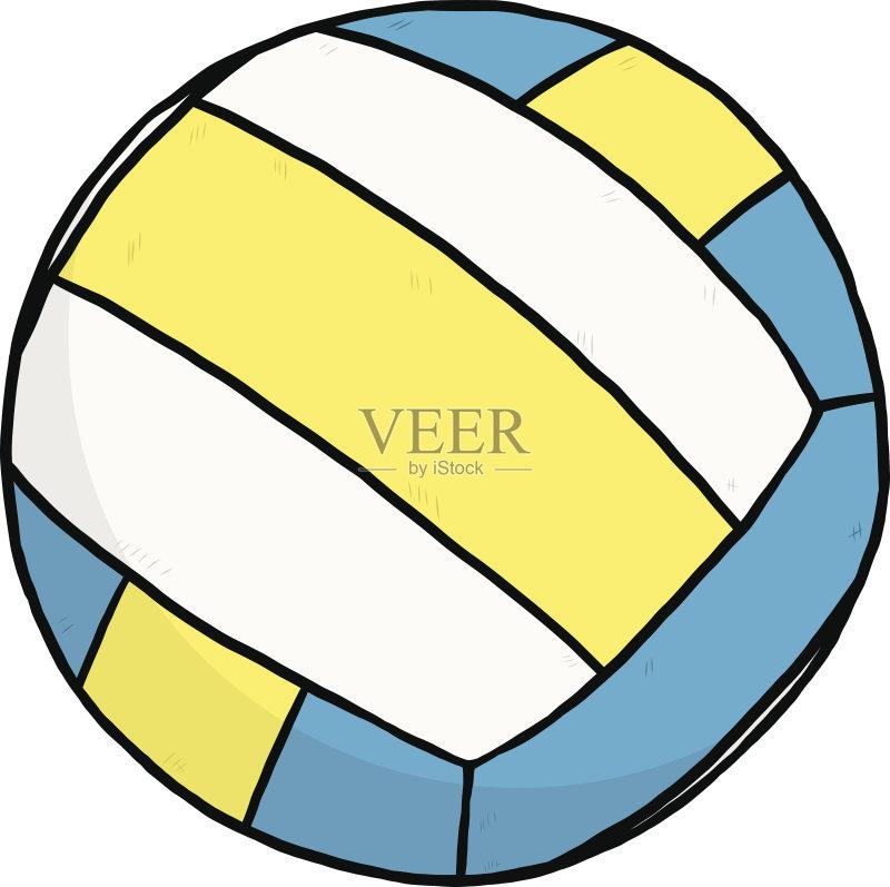 画插图 放松 排球 乐趣 蓝色 无人 2015年 人体 黑色 矢量 球体 圆形 截
