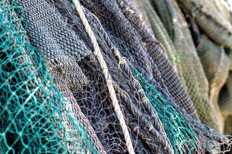 鱼网 式样 机织织物 探索 渔网 船 捕获的 商用码头 海产 深的 渔业 背景