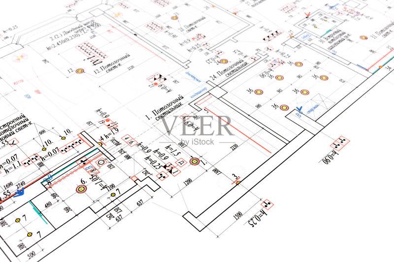 图纸-做计划 设计 蓝图 建筑结构 文档 建筑业 角度 普通住宅区 比例 工