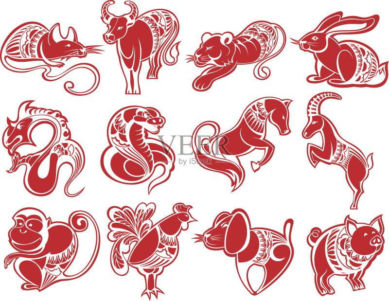 剪纸-山羊 文化 虎 白色 收集 红色 符号 蛇 野牛 龙 老鼠 鼠 算命 野生猫图片