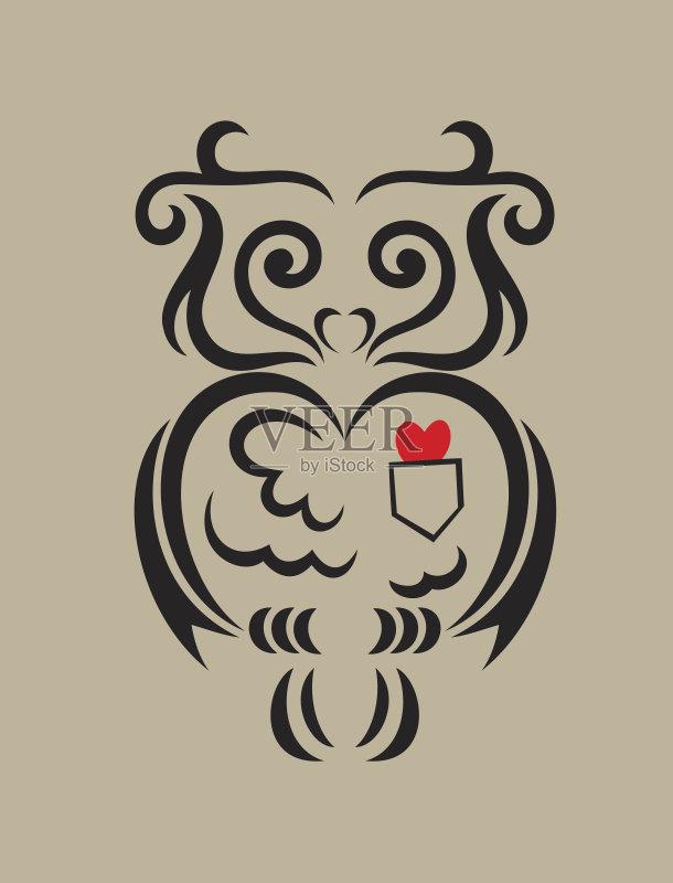 画插图 叶子 式样 符号 美术工艺 形状 吉祥物 动物 艺术 切断 作标记