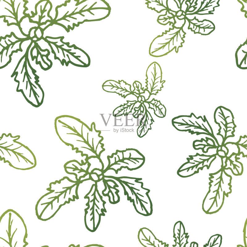 图案-夏威夷文化 叶子 式样 枝 自然 法国海外领土 背景幕 装饰 背景 海