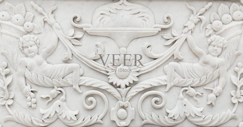 装饰 部分 浅浮雕 基督教 背景 雕刻物 宫殿 户外图片