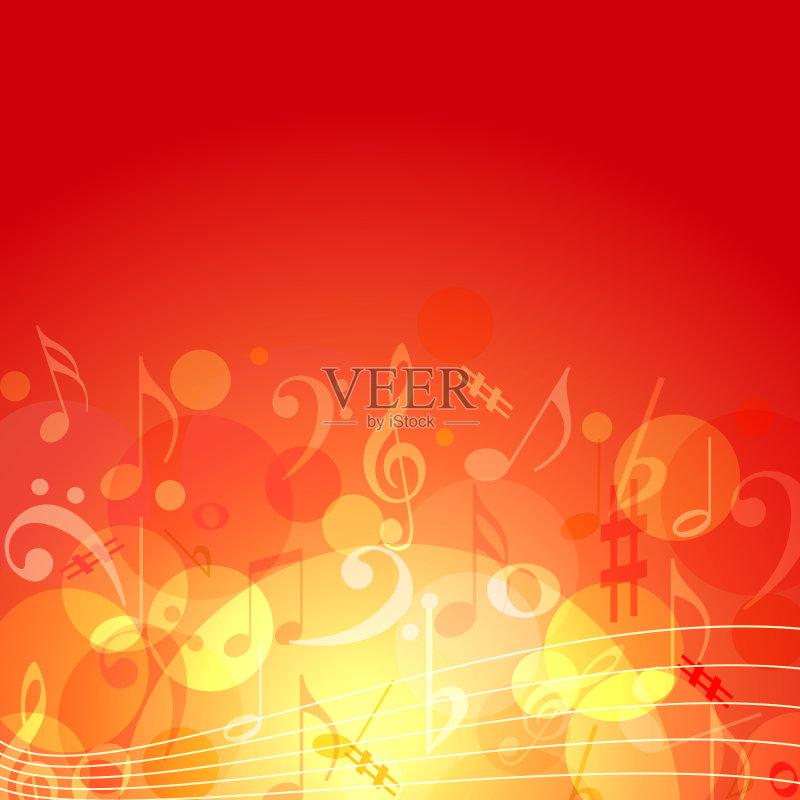 术文化和娱乐 高音谱号 管弦乐队 计算机制图 背景 火 计算机图形学