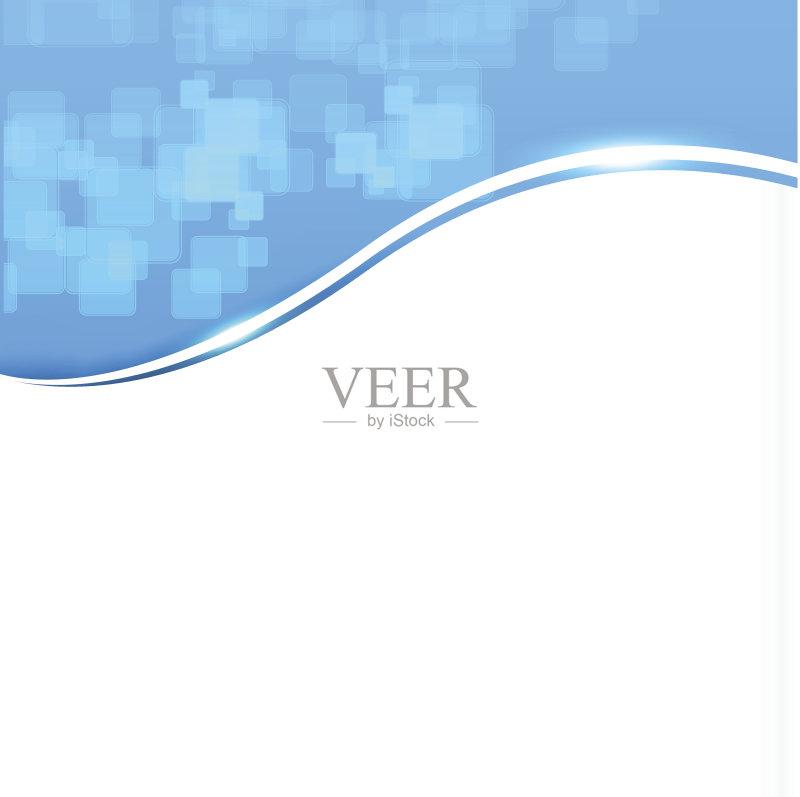 曲线-做计划 绘画插图 符号 形状 蓝色 发光 无人 2015年 背景幕 科学
