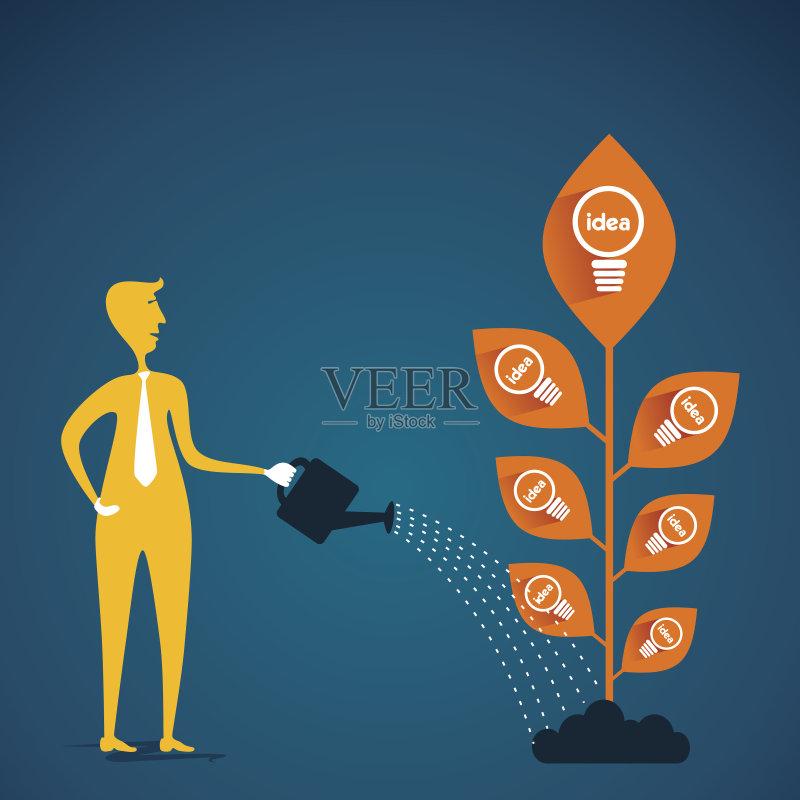 无人 商务 创新 成功 电子元件 矢量 浇水 灯