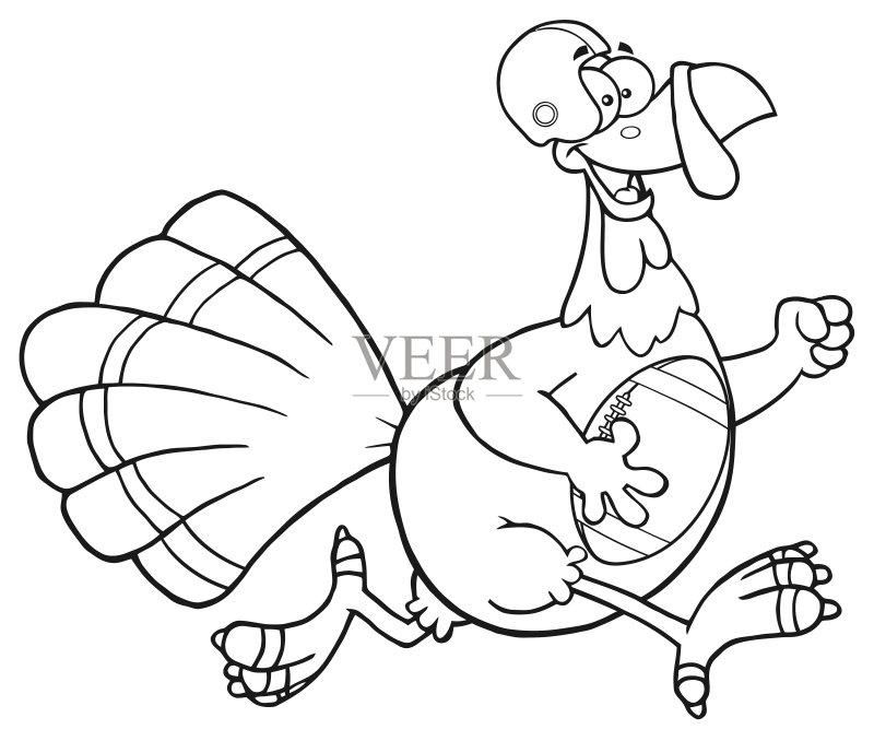 计算机制图 剪贴画 微笑 鸟类 性格 幽默 绘画插图 头饰 运动头盔 火鸡