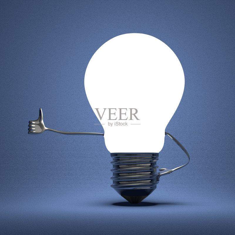 创新-环境 想法 概念和主题 翘起大拇指 光 符号 手 四肢 吉祥物 发光 同