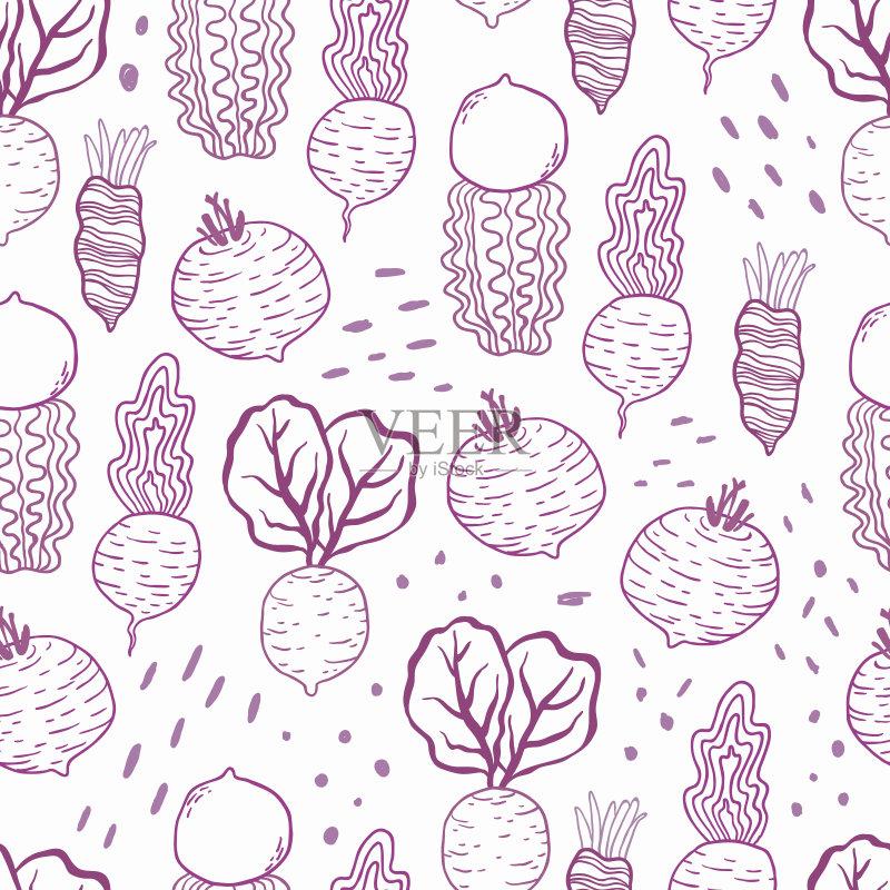 图案-铅笔画 原始视频 甜菜 叶子 胡萝卜 植物 红色 菜园 吃 熟的 维生素