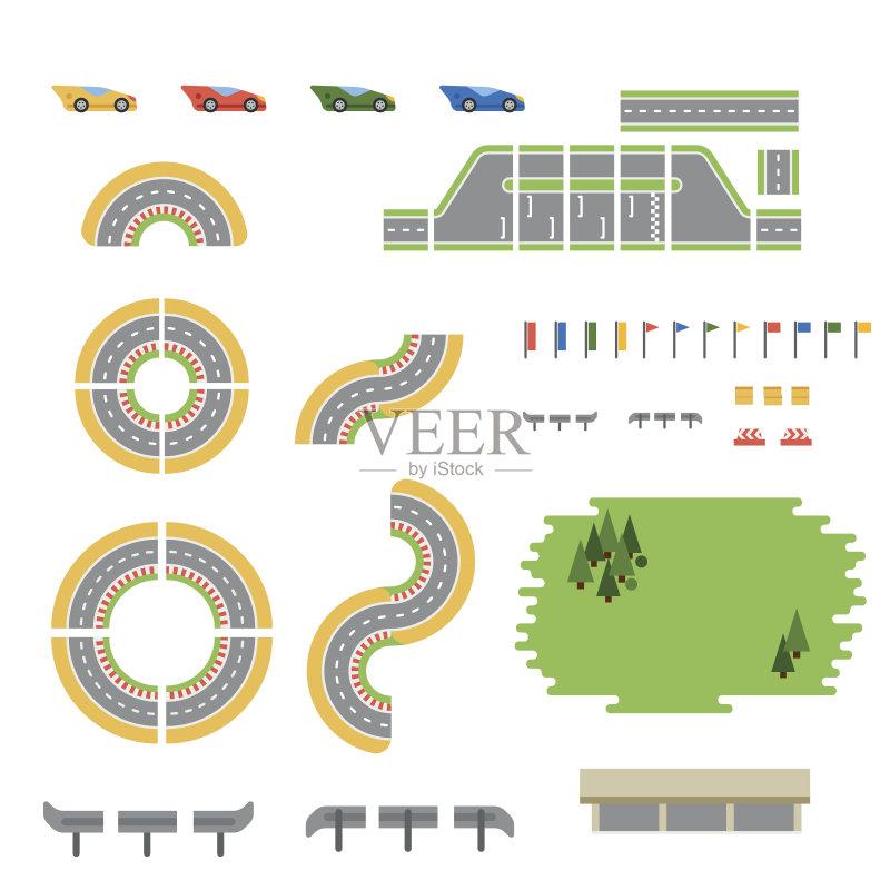 线路-汽车赛道 驾车 信号弹 想法 概念和主题 路 陆用车 运输 奖 运动 迅