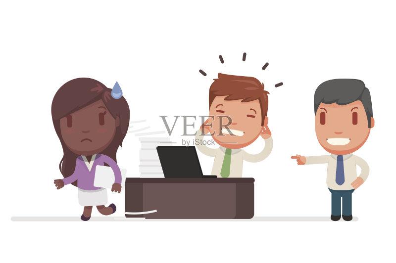 业金融和工业 情绪压力 标志 使用手提电脑 商务 男商人