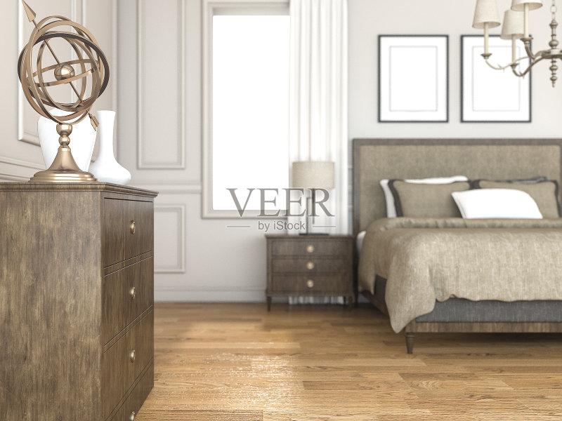 卧室 舒服 家具 公寓 室内 艺术文化和娱乐 床 干净 地板 房屋 金色 现