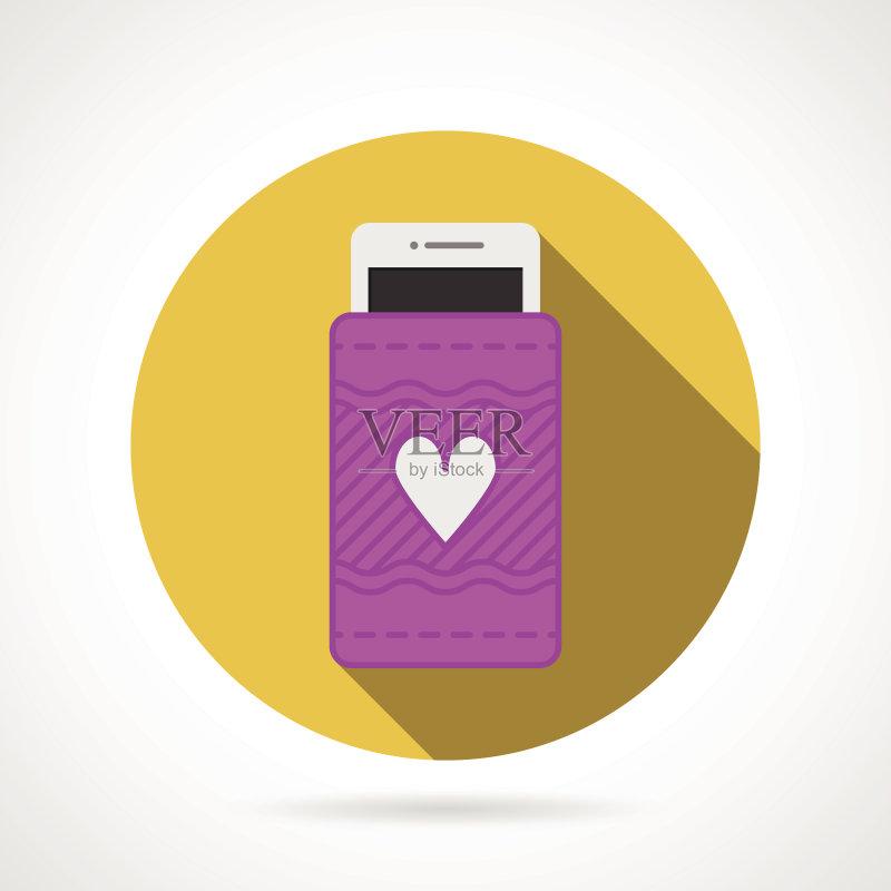 手机壳-无线电技术 市场营销 一个物体 个人随身用品 红色 符号 容器