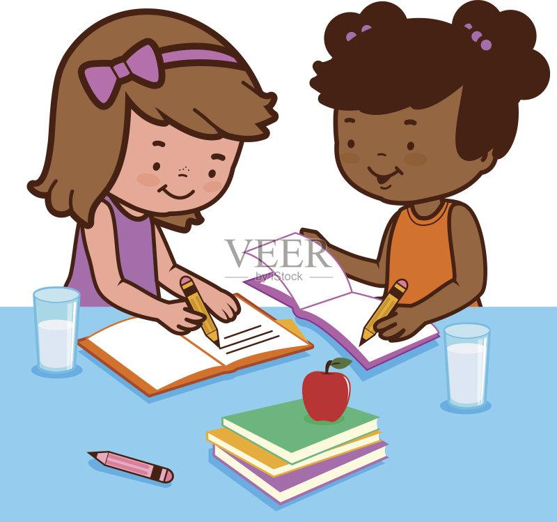 图书馆 家庭作业 教育 小学 学习 女生 知识 非裔美国人 牛奶 可爱的