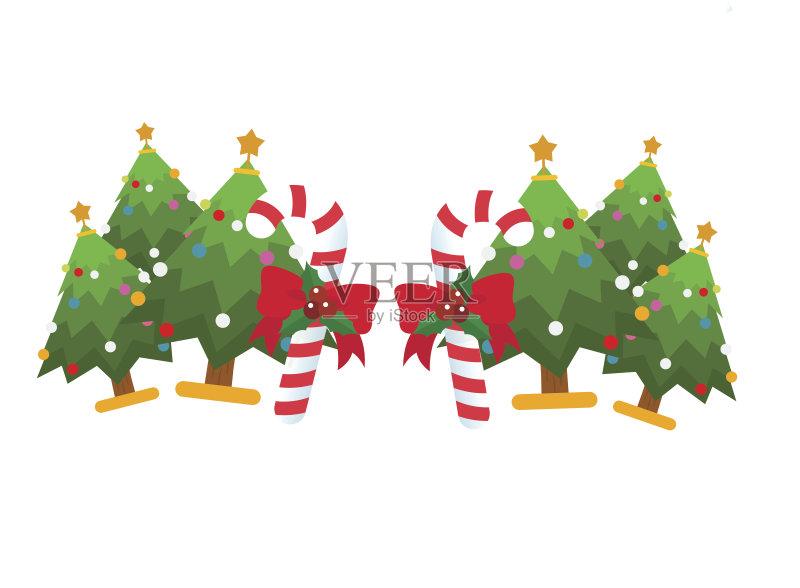 插图 艺术品 圣诞树 树 剪贴画 圣诞节