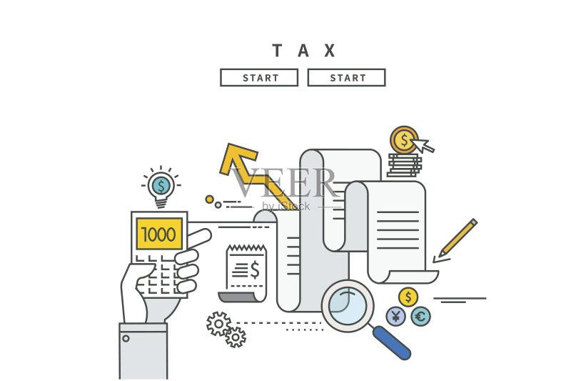 平面-网站模板 信息图表 文档 符号 家庭理财 金融 做计划 股市和交易所图片