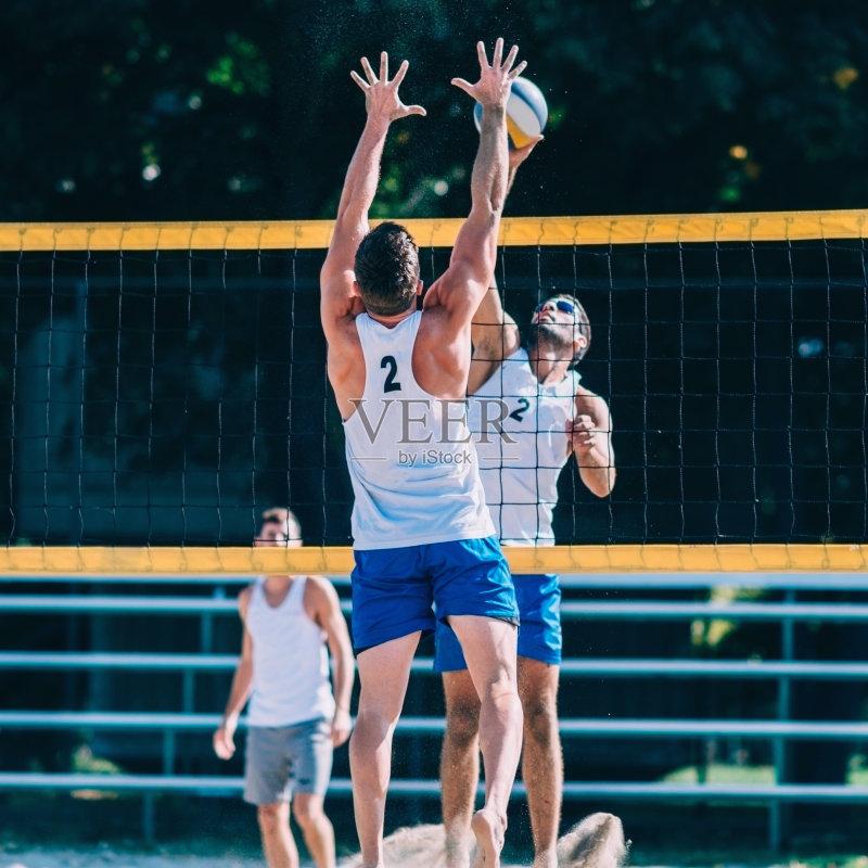 防守 户外 进行中 行动 职业运动员 网 仅男人 活动 沙滩排球 健康生活