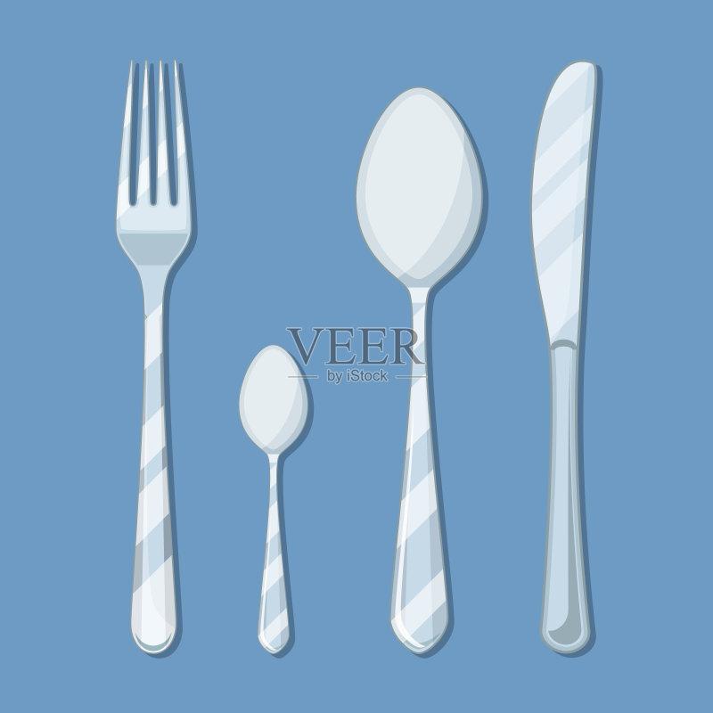 匙 健康食物 绘画插图 早餐 晚餐 用餐者 图标 银餐具 服务 午餐 钢铁