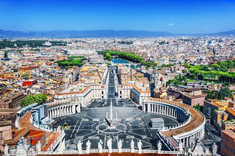 宗教 旅游目的地 建筑外部 雕塑 梵蒂冈城 欧洲 使徒彼得 圣彼得广场