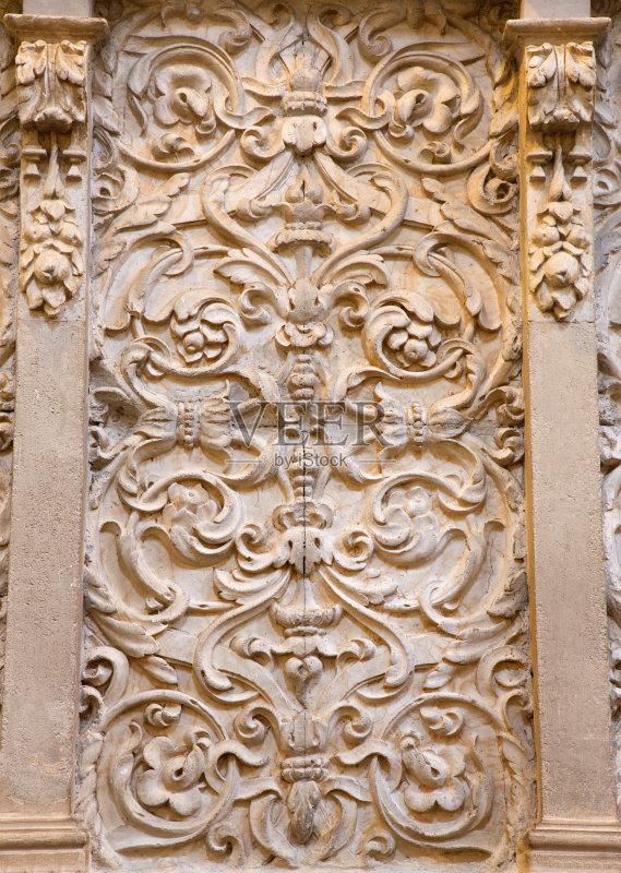 浮雕-修道院 著名景点 纪念碑 安达路西亚 宗教圣徒 西班牙 美术工艺 图片