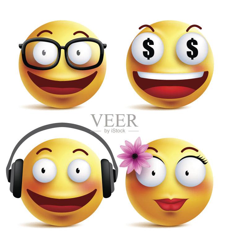 标 新的 面部表情 动画片 计算机图形学 设计 女孩 少女 正字符号 儿童
