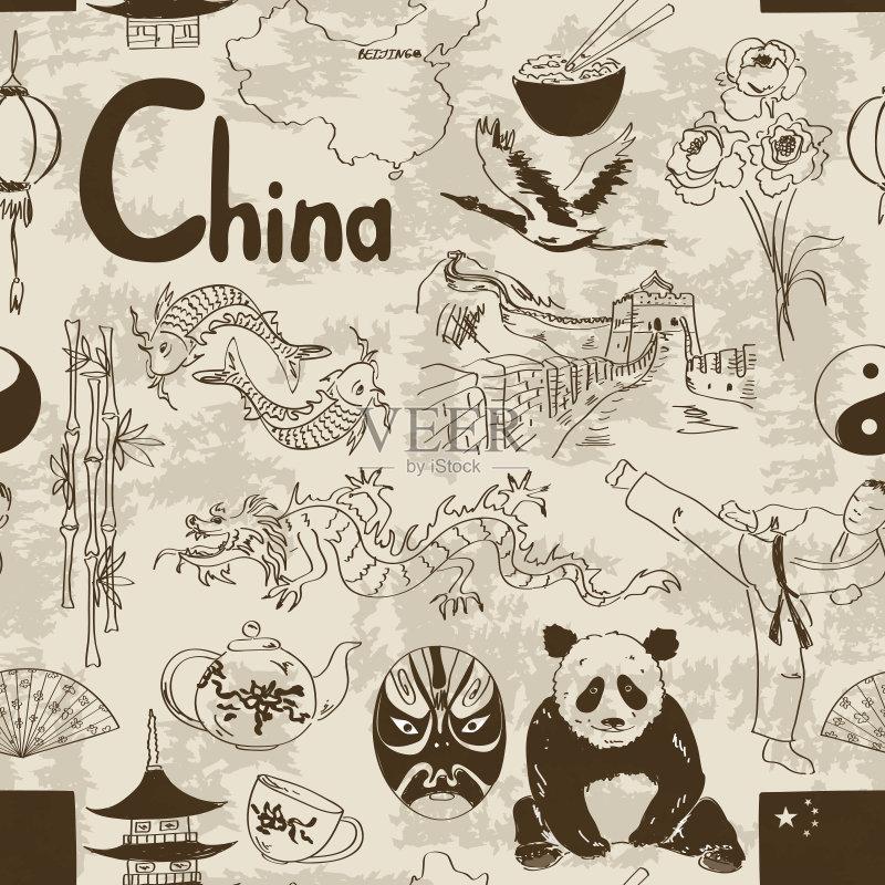 碗 铅笔画 面具 鹤 阴阳符 符号 茶杯 国内著名景点 瓷器 龙 亚洲 旅游目