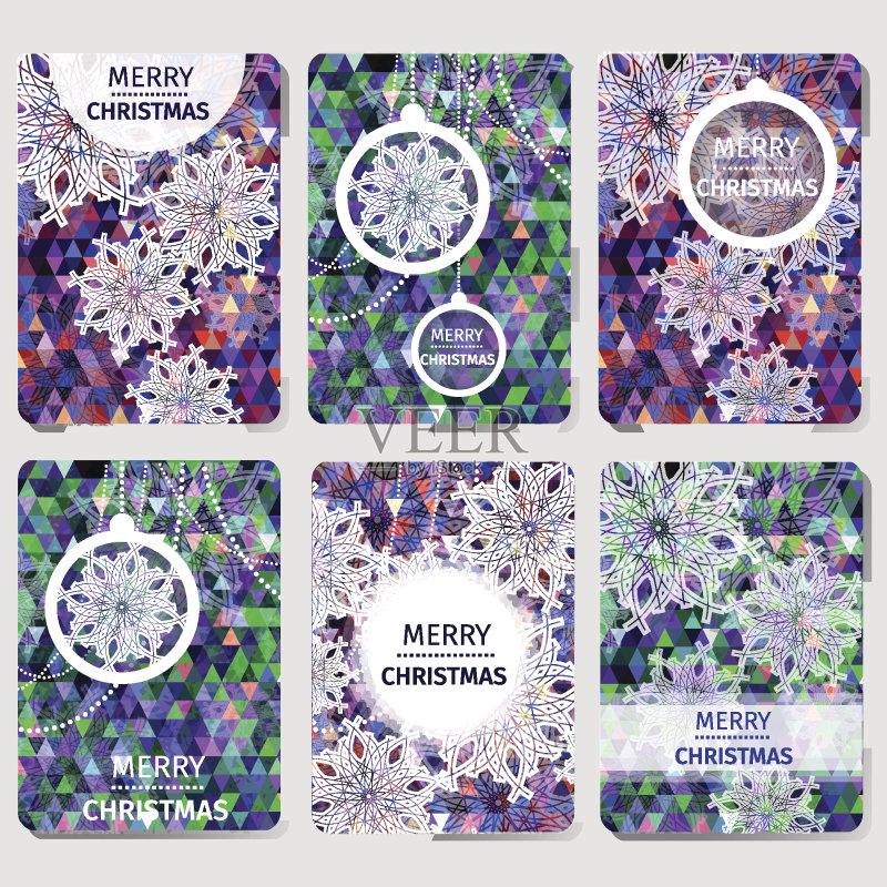 泡 折纸工艺 平面图形 圣诞节 下雪 背景 现代 幽默 雪 时尚 标语 绘画图片