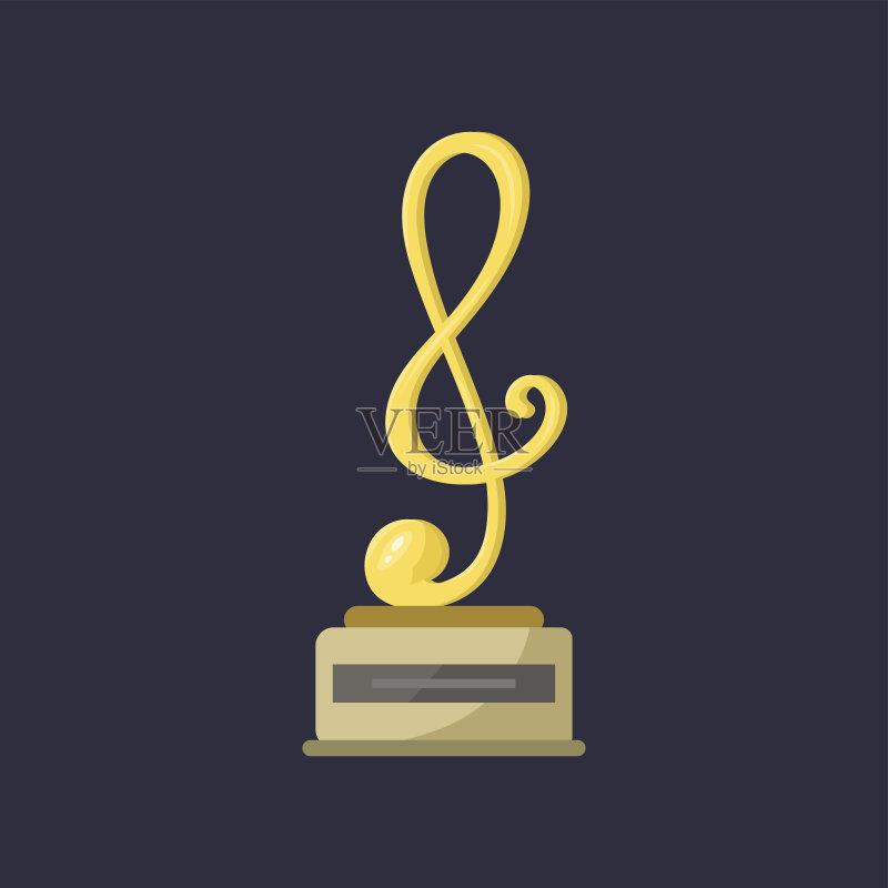 术文化和娱乐 高音谱号 竞技运动 竞争 音频混合器 计算机制图 金色