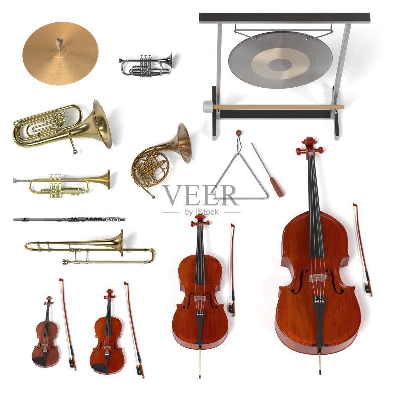 乐器弦 中提琴 形状 管弦乐队 性能组 三维图形 音乐 艺术文化和娱乐
