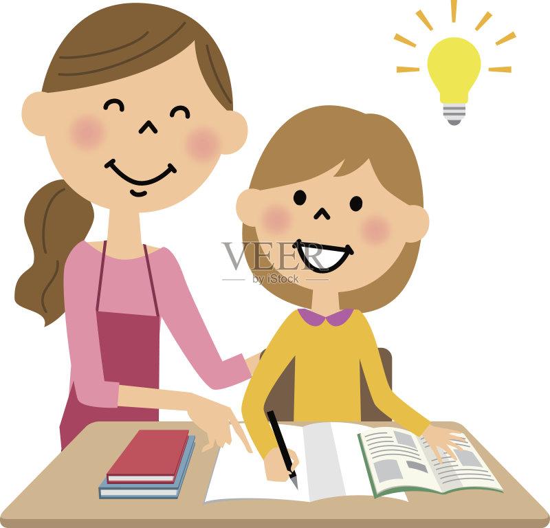 日本人 家庭作业 教育 女性 学习 生活方式 母亲 围裙 微笑 亚洲人 知